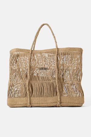 Zara Grosser shopper mit kordeln