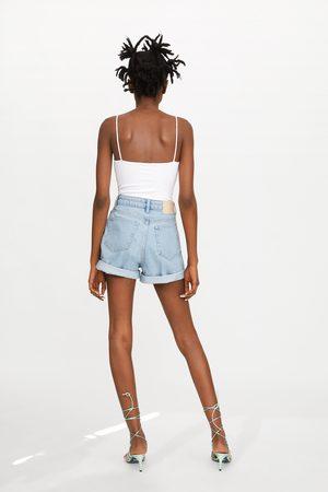 Zara Mom-fit-bermudashorts aus authentic denim