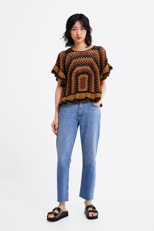 Zara Damen Straight - Jeans zw premium new straight sunrise blue