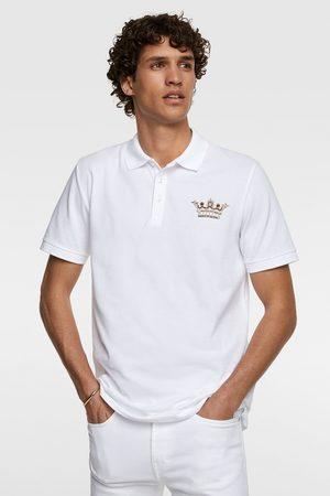 Zara Herren Poloshirts - Poloshirt mit aufgesticktem wappen