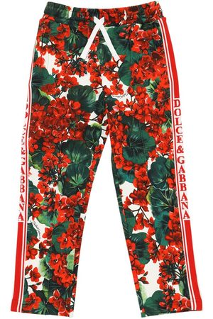 Dolce & Gabbana Geranei Print Cotton Sweatpants