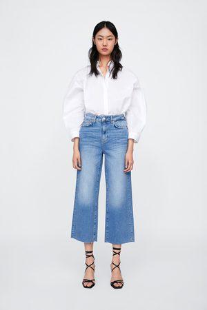 Zara Damen High Waisted - Jeans zw premium high waist culotte sunrise blue
