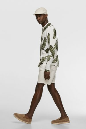 Zara Bermudashorts aus festem stoff mit tunnelzug