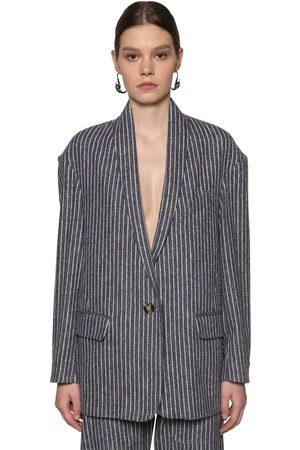 ISABEL MARANT ÉTOILE Piety Pinstripe Cotton Blend Jacket