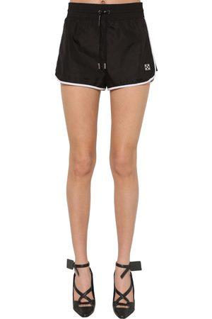 OFF-WHITE Damen Shorts - Nylonshorts Mit Logo