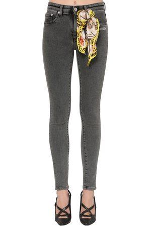 OFF-WHITE Enge Jeans Aus Gewaschenem Baumwolldenim