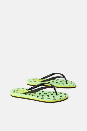 Zara Damen Flip Flops - Flacher zehentrenner