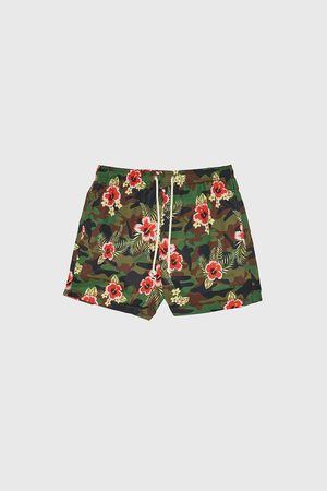 Zara Badeshorts mit kombiniertem camouflagemuster