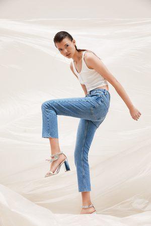 Zara Damen High Waisted - Jeans mid rise slouchy