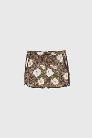 Zara Bermudashorts mit animalprint