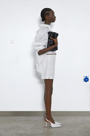 Zara Damen Shorts - Bermudashorts mit flechtgürtel