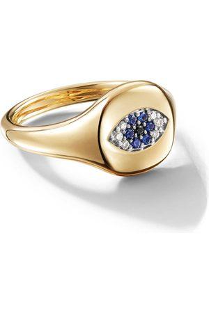 David Yurman Damen Ringe - 18kt yellow gold Cable Collectibles Evil Eye sapphire and diamond mini pinky ring