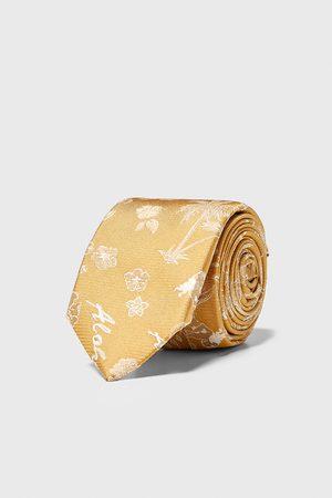 Zara Herren Krawatten - Schmale jacquard-krawatte