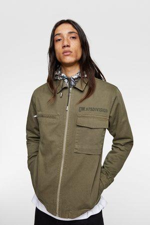 Zara Herren Denim - Oberhemd mit taschen
