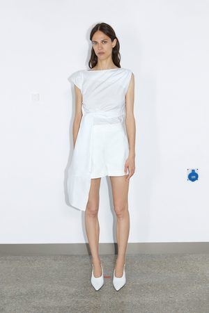Zara Damen Shorts - Shorts mit hohem bund