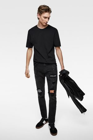 Zara Skinny-jeans mit bandana-patch