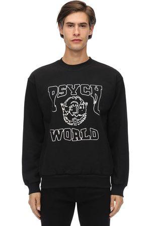 PSYCHWORLD Acid Crewneck Cotton Jersey Sweatshirt