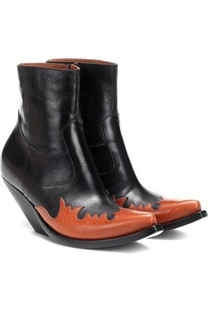 Vetements Ankle Boots aus Leder