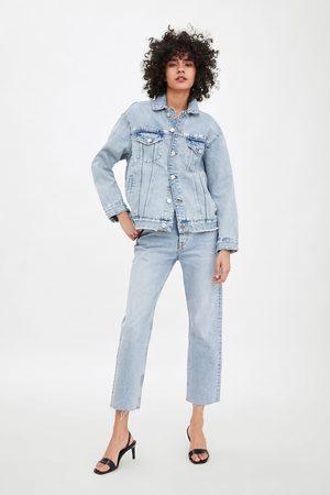 Zara Damen Jeansjacken - Oversize-jeansjacke