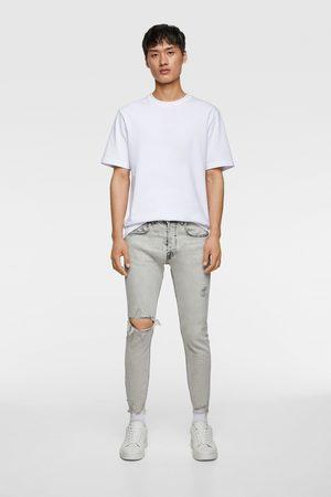 Zara Skinny-jeans mit unversäubertem saum