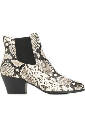 Hogan Damen Stiefeletten - Snakeskin-print ankle boots
