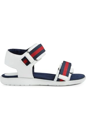 Gucci Children's leather sandal with Web