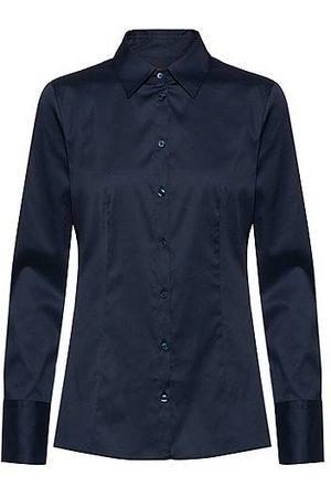 HUGO BOSS Slim-Fit Bluse aus bügelleichter Popeline