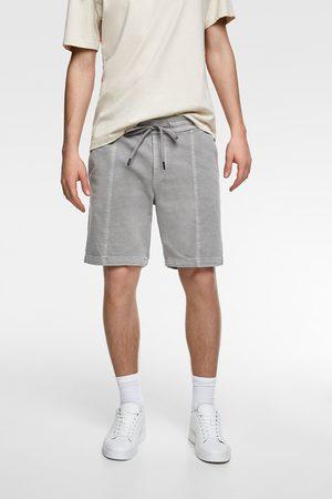 Zara Herren Shorts - Bermudashorts in verwaschener optik