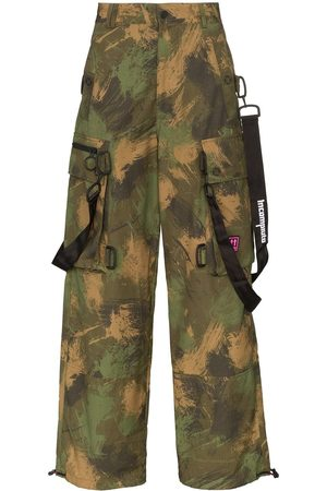 OFF-WHITE Camouflage loose cargo trousers