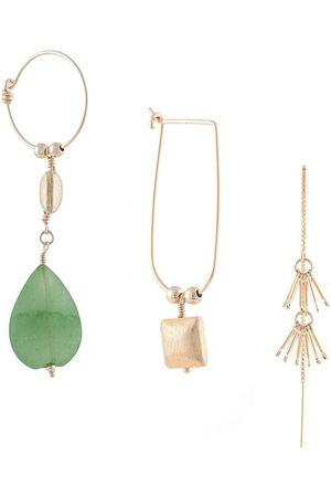 Petite Grand Set of Three Jade earrings