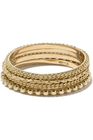 Wouters & Hendrix Gold 18kt gold four rings set