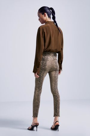 Zara Skinny-jeans zw premium fade out mit schlangenhautmuster