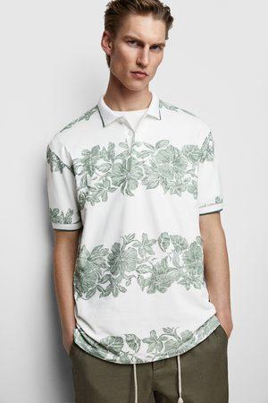 Zara Poloshirt mit blumenmuster