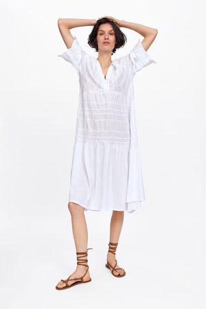 Zara Kleid mit raffungen