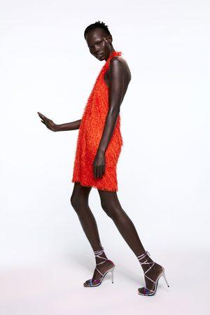 Zara Neckholder-kleid mit fransen
