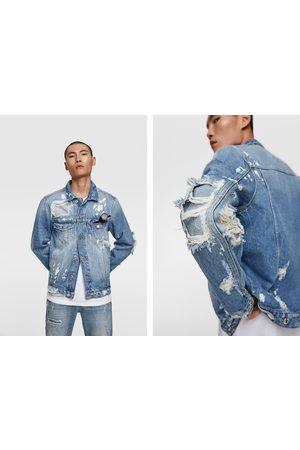 Zara Jeansjacke mit aufnähern