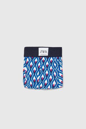 Zara Boxershorts mit geometrischem muster