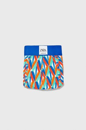 Zara Herren Boxershorts - Boxershorts mit geometrischem muster