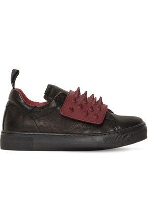 AM 66 Herren Sneakers - Ledersneakers Mit Spikes