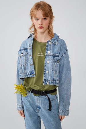 Zara Shirt in verwaschener optik mit schriftzug