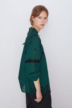Zara Bluse mit stickerei