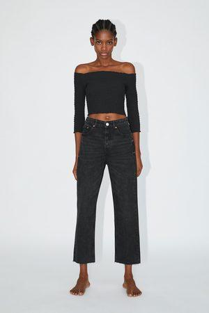 Zara Gerade geschnittene hi-rise-jeans