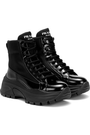 Prada High-Top-Sneakers aus Lackleder