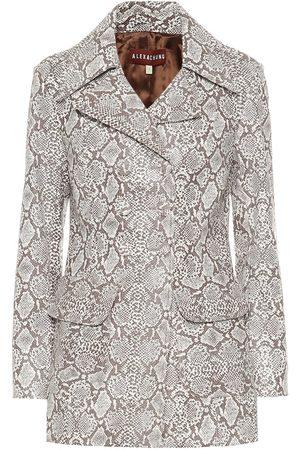 AlexaChung Damen Lederjacken - Bedruckte Jacke aus Lederimitat