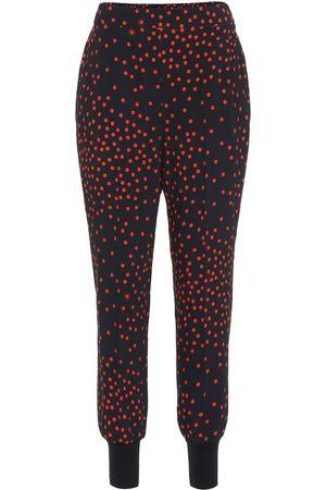 Stella McCartney Damen Hosen & Jeans - Gepunktete Hose aus Crêpe