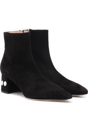 Miu Miu Damen Stiefeletten - Ankle Boots aus Veloursleder