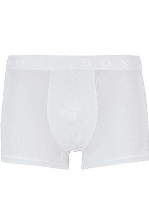 HUGO BOSS Boxershorts aus elastischer Bio-Baumwolle mit Logo am Bund