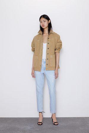 Zara Jeans z1975 mom-fit mit rissen