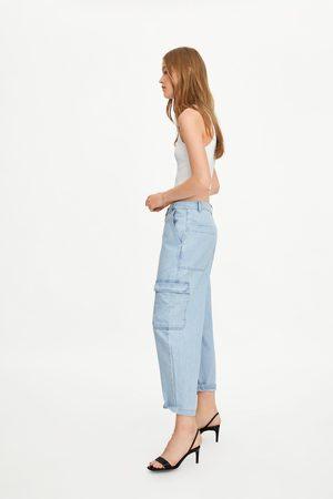 Zara Damen Cargohosen - Jeans-cargohose