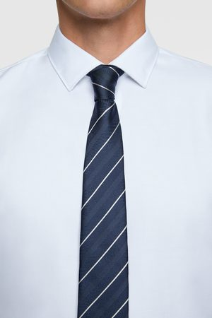 Zara Breite krawatte mit streifen